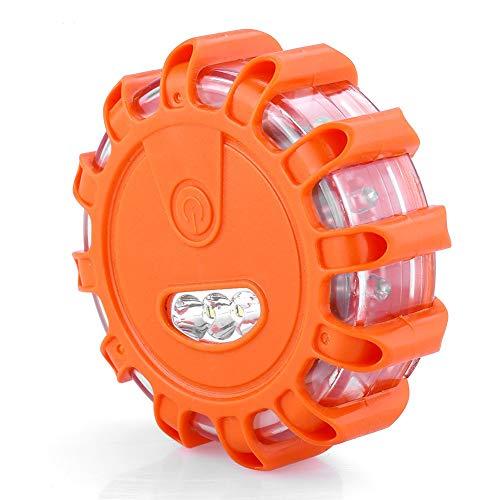 FTVOGUE 15 LED Multifunción Luz de Emergencia de Advertencia de Luz Naranja LED Luz Parpadeante Señal de Advertencia Faro Camino Emergencia LED Emergency Light