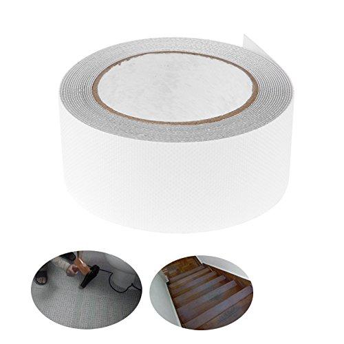 Nastro antiscivolo da5,1cm x 4,9m ad alta trazione, impermeabile, da usare come battistrada per percorsi di sicurezza di interni ed esterni, trasparente