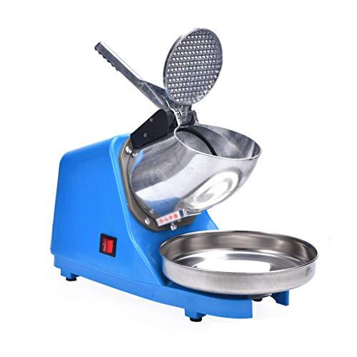 Ice Crusher Counter Top Eismaschine New Compact Model Edelstahl Schneekegelmaschine für Eis Kaltgetränke Obst Dessert und Cocktail für den Haushalt Gewerbliche Nutzung 85kg / Stunde