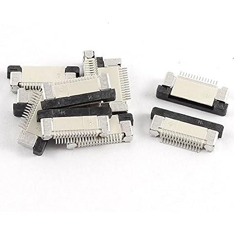 Parte inferior de 0,5 mm Puerto 14Pin Pitch FFC FPC cinta zócalos de conexión 10 piezas
