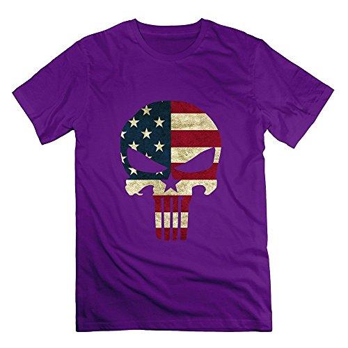 Grossbull Men's Funny Chris Kyle Frog American Sniper Skull Logo T-shirt X-Small
