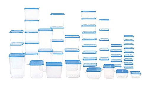 All Time Polka Plastic Container Set, 52 Pieces