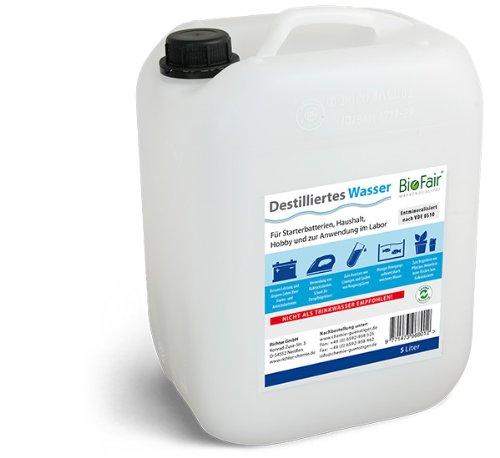 BioFair Demineralisiertes Wasser VDE 0510-10 Liter (destilliertes Wasser)