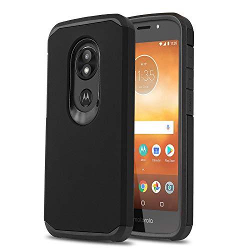 Schutzhülle für [Motorola Moto E5 GO (Verizon)], [DuoTEK Serie] Stoßfeste Hybrid-Schutzhülle [Defender[Stoßdämpfung] für Motorola Moto E5 Go/Play/Cruise (Verizon Wireless Prepaid-Telefon), schwarz - Prepaid-verizon-handys