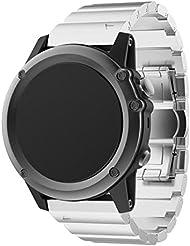 Garmin Fenix 3 / HR Armband, OverDose Metall Edelstahl Armband Armbandband für Garmin Fenix 3 / HR