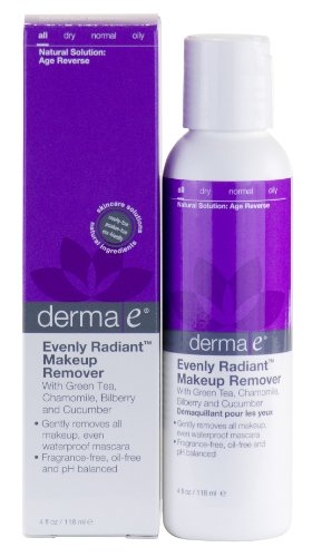 derma e Eyebright Makeup Remover, 4 fl oz (118 ml) (Pack of 3) by Derma E