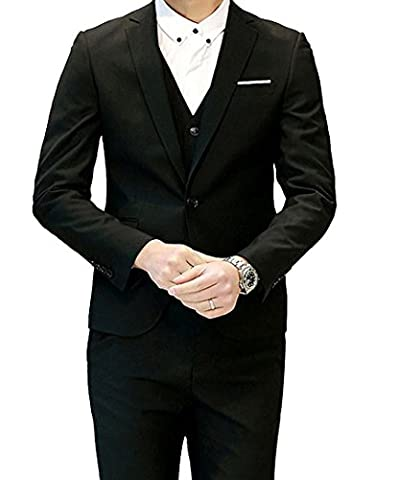 Herren Anzug Regular Fit Business Anzüge 3-Teilig Anzugjacke Anzughose