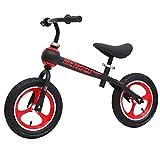GHL Kind Fahrrad Kein Pedal Auto ausbalancieren 12 Zoll 2-6 Jahre alt Roller Aufblasbar Reifen,Black