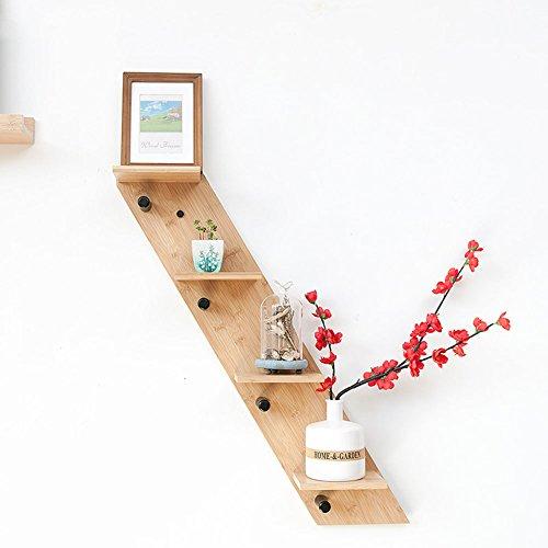 WYYY Regal Dekorrahmen Multifunktions Haken Wand Bambus Trapez Bamboo Farbe ( größe : 4 ) -