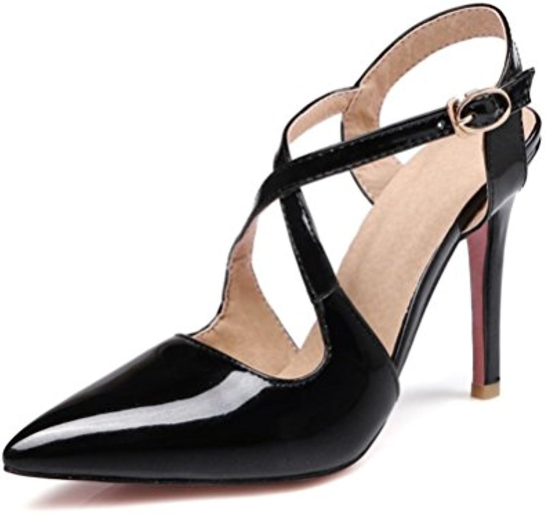 XUEXZIX Sandali con Tacco Alto da Donna Cinghie Incrociate Incrociate Incrociate Dopo la Fibbia Scarpe da Donna, 36   Materiali Selezionati Con Cura  4c2cf2