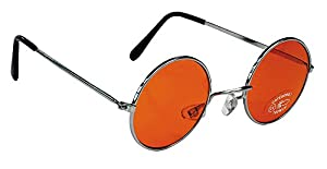 Party Pro 871119 - Gafas hippie color naranja, unisex para adulto, talla única