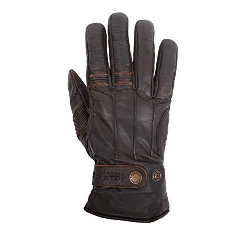 HELSTONS - Guanti da moto invernali, in pelle di bovino, colore: Marrone/Nero, T9