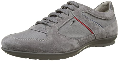 Geox Uomo Symbol A, Sneakers Basses Homme Gris (Anthracitec9004)