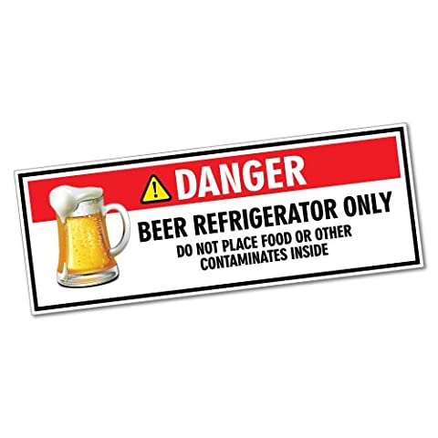 Danger Beer Refrigerator Only Sticker Funny Car Stickers Novelty Decals