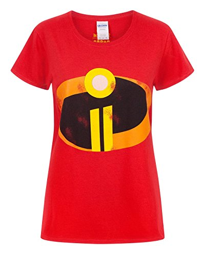 Incredibles Kostüm Frauen - The Incredibles 2 Women's Costume T-Shirt (S)