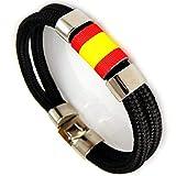 AKIEE Armband Spanien Mann oder Frau Spanien mit Seil Nautica schwarz (Black)
