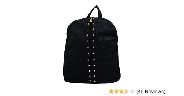 00cfa6e52d Vintage Women s Synthetic Black Backpack  Amazon.in  Shoes   Handbags