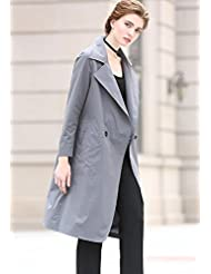YRF Robe de l'automne. Veste. Trench-Coat long mince. Vestes Manteaux
