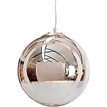 Edle Design Hngelampe GLOBE 40cm Glas Kupfer Kugelleuchte Hngeleuchte Lampe