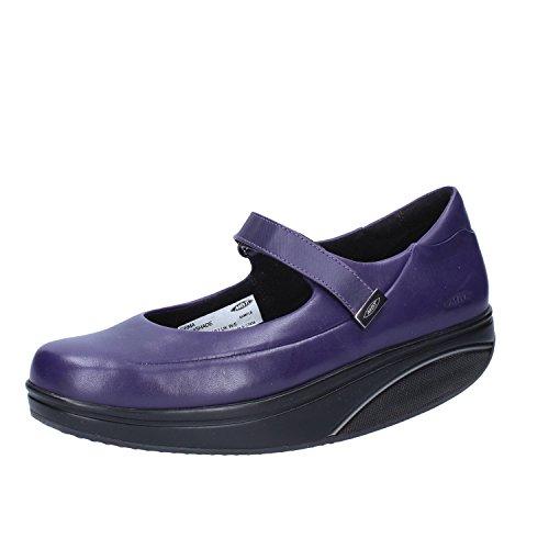 Mbt Ballerines Pour Femmes En Cuir Violet