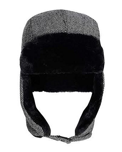 Mens Trapper Hats Winter warm Russian Ski Hat Style Lined New