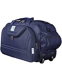 M MEDLER Nylon Expandable Duffel Epoch Trolley Bag (Navy)
