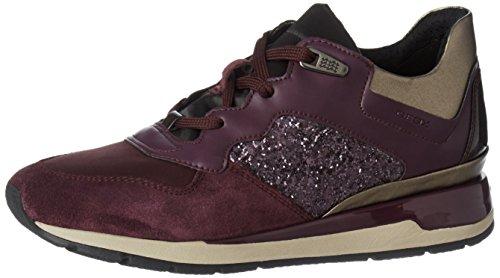 Geox Damen D Shahira B Sneaker, Violett (Lt Prune/Prune), 39 EU (Geox-schnür-sneakers)