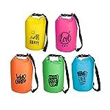 Waterproof Bag Sporttasche & Schwimmtasche für Kinder & Jugend · 15 Liter · in coolen Neonfarben · Wasserdichter Sack/Beutel für Schule · Sport · Freizeit (blau)