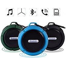 WIMI Enceinte Bluetooth Haut-parleur étanche Sans Fil 3W Potable Multifonction Enceinte Mural avec une Ventouse Légère Parfait pour Voyage/Camping Soirée/Randonnée etc.