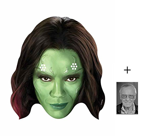 Gamora (Zoe Saldana) Marvel Guardians of the Galaxy Single Karte Partei Gesichtsmasken (Maske) Enthält 6X4 (15X10Cm) - Offizielle Super Hero Kostüm
