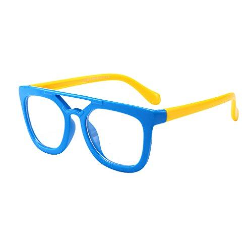 Hibote Mädchen Junge Brillen - TR - Clear Lens Glasses Frame Geek/Nerd Brillen mit Car Shape Gläser Fall