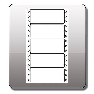 Computer / Lochrand Etiketten , 89 x 36 mm, einbahnig, 4000 Etiketten / Pckg.