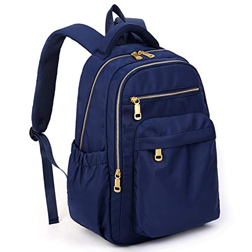 Rucksack Schule UTO Mode wasserdicht Nylon College Bookbag Schultertasche Blau (Rucksack Bookbag)