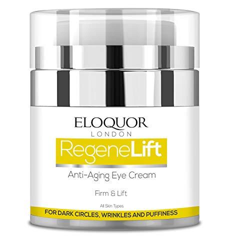 Eloquor RegeneLift Anti-Aging-Augencreme - Feuchtigkeitscreme mit Hyaluronsäure und Vitaminen für Falten, feine Linien, Augenringe, müde Augen und empfindliche Haut - natürlich, organisch und grausam
