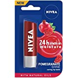 NIVEA Lip Balm, Pomegranate Shine, 4.8g