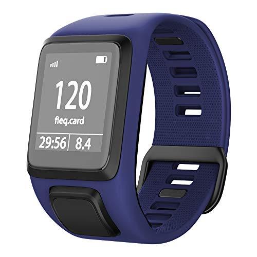 NotoCity Compatible con Correa de Silicona Tomtom Pulsera de Repuesto para Spark/Spark 3/Golfer 2/Adventurer/Runner 2/3 Smart Watch