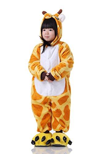 Cliont Kinder Tier Onesie Giraffe Pyjamas Kigurumi Weihnachten Kinder Sleepwear Kostüm Anime (Mann Kostüm Esel 2)