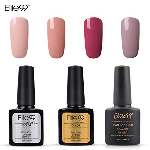 Elite99 Esmalte Semipermanente UV LED 7pcs Kit Uñas