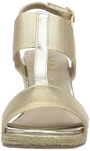 Xti 45887, Sandales à talon compensé femme Gris - Grau (Platino)
