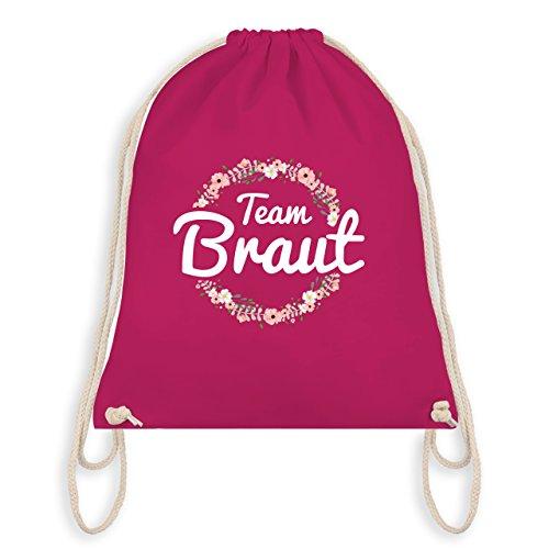JGA Junggesellinnenabschied - Team Braut Blumenkranz - Unisize - Fuchsia - WM110 - Turnbeutel I Gym Bag