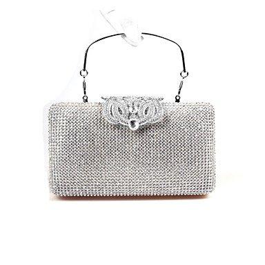 Frauen PU-formalen/Event/Party/Hochzeit Abend Tasche / Geldbeutel / schimmernden Diamanten Hand Tasche / Strass/Krone/Kupplung Black