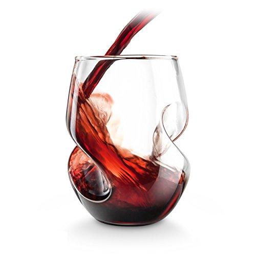 Final Touch Conundrum Red Wine Glasses Rotweingläser - Hand durchgebrannte Glas 473ml - Packung mit 4