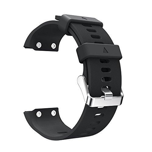 YBWZH Ersatzarmband Silikagel-Softbandband für Garmin Forerunner 35 Silikonband Ersatz Uhren-Armband Uhrenarmband(Schwarz)