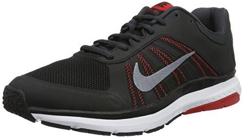 Nike Herren Dart 12 Laufschuhe Schwarz (Black/mtlc Cool Grey/university Red)