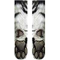 Kinlene Mujer Hombre Adulto Unisex Animal Paw Crew Calcetines Sublimados