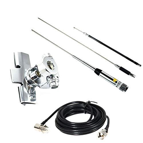 Ruiboury HH-9000 Mobile Antenna Set 29,6/50,5/144 / 435MHz di Ricambio per TH-9800 KT7900D Radio bidirezionale Accessori