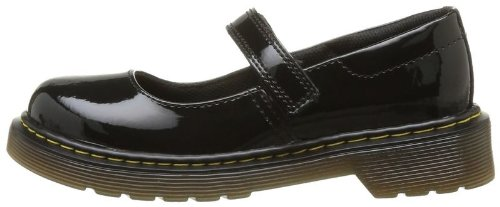 babies dr martens maccy noir vernis, chaussure enf filles dr.martens h12martens100 Noir