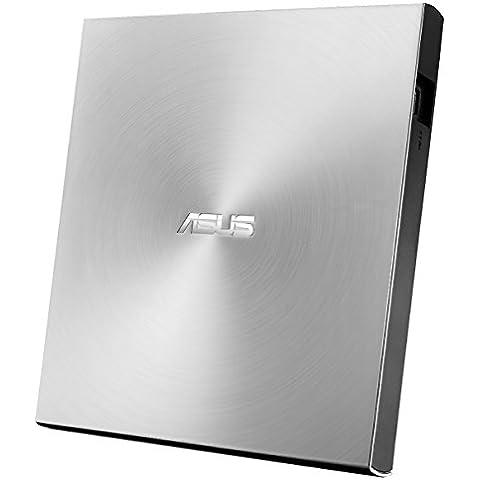 ASUS SDRW-08U7M-U - Unidad de disco óptico (15 - 80%, Plata, Desktop/Notebook, Bandeja, DVD±RW, USB 2.0)