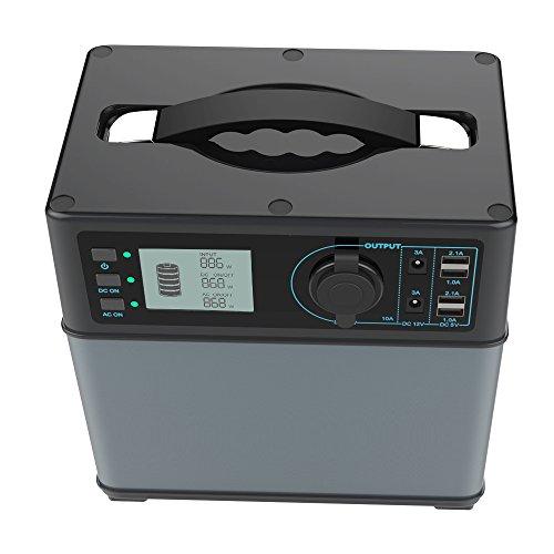 Hochleistungsakku Generator 400Wh Tragbare Energiespeicher mit Lithium-Ionen Zellen Solar Generator(Super Leichtgewicht, nur 5,6 kg,ladbar über die Steckdose, Solarzellen, 12V - Autosteckdose)