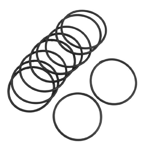 Sourcingmap 10Stück 40mm x 2mm Flexible Filter Gummi-O-Ring-Dichtung Schwarz DE de -